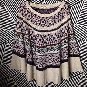 Ruff Hewn BOHO style Sweater Cape